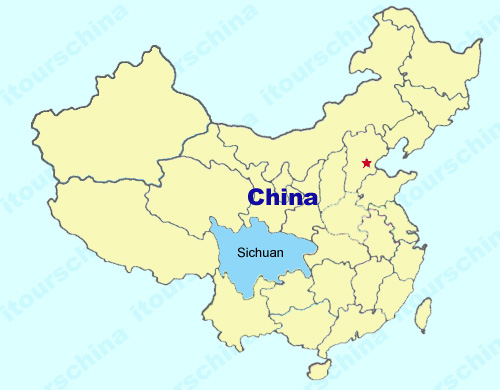 Sichuan Map Map Of China Sichuan Province Maps