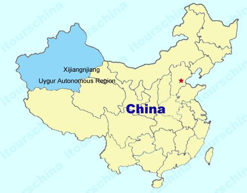 Xinjiang Map Map of China Xinjiang Province Maps