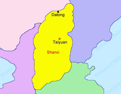 Shanxi Map, Map of China, Shanxi Province Maps